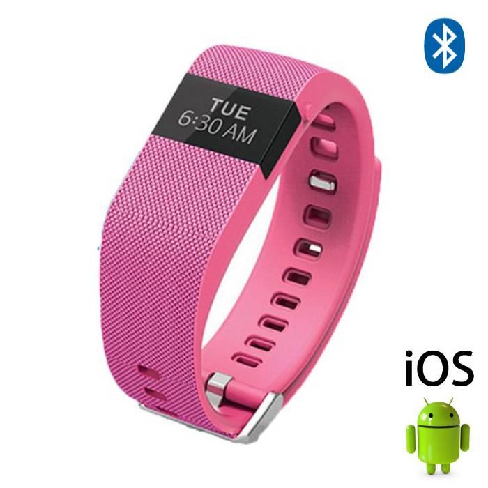Originele TW64 Smartband Sport Smartwatch Smartphone Horloge OLED iOS Android Roze