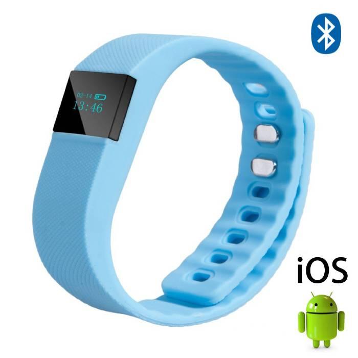 Originele TW64 Smartband Sport Smartwatch Smartphone Horloge OLED iOS Android Lichtblauw
