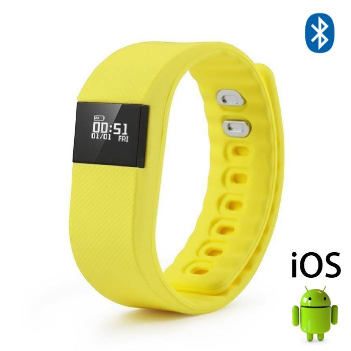 Originele TW64 Smartband Sport Smartwatch Smartphone Horloge OLED iOS Android Geel