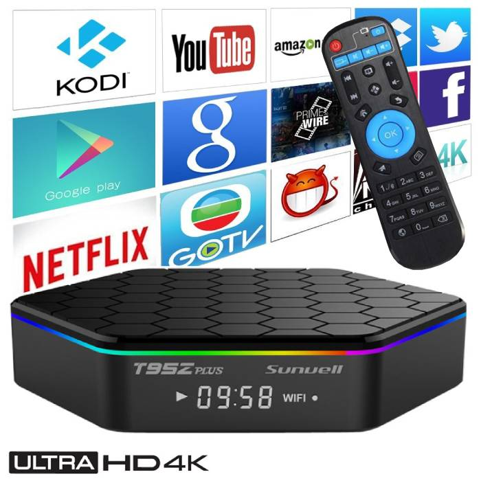 T95Z Plus 4K TV Box Mediaspeler Android 7.1 Kodi - 3GB RAM - 32GB Opslagruimte