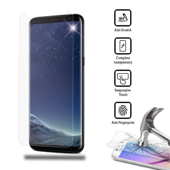 Protecteur d'écran Samsung Galaxy S 8 plat en verre trempé Film