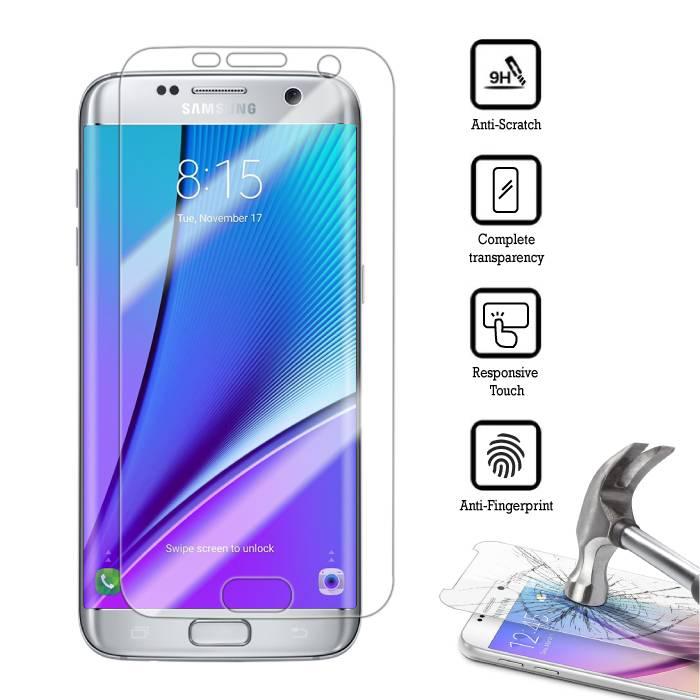 Film de protection écran Samsung Galaxy S7 bord plat en verre trempé Film