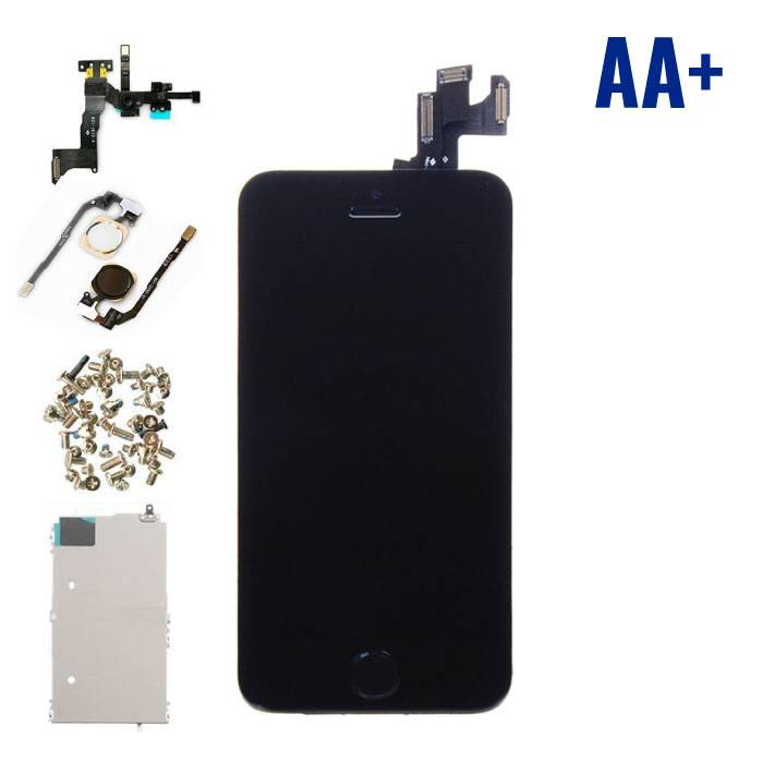 iPhone 5S Front Mounted Display (LCD Touchscreen +) AA + Quality - Black - Copy