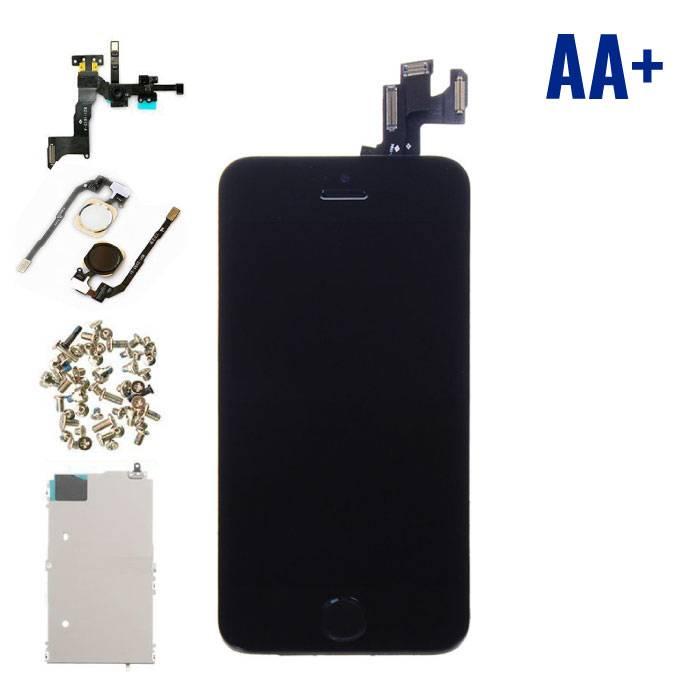 iPhone SE avant affichage monté (écran LCD + tactile + Pièces) AA+ Qualité - Noir