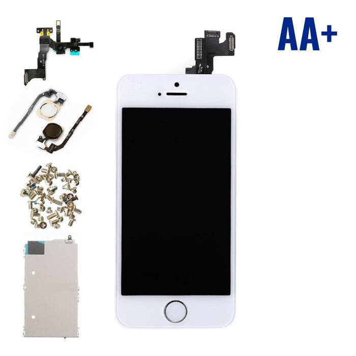 iPhone 5S Front Mounted Display (LCD Touchscreen +) AA + Quality - White - Copy