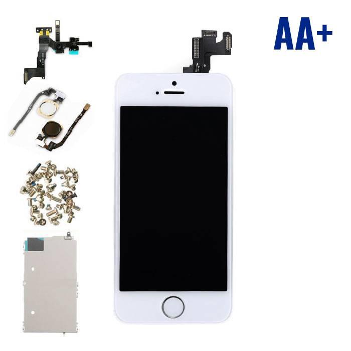 iPhone SE avant affichage monté (écran LCD + tactile + Pièces) AA+ Qualité - Blanc