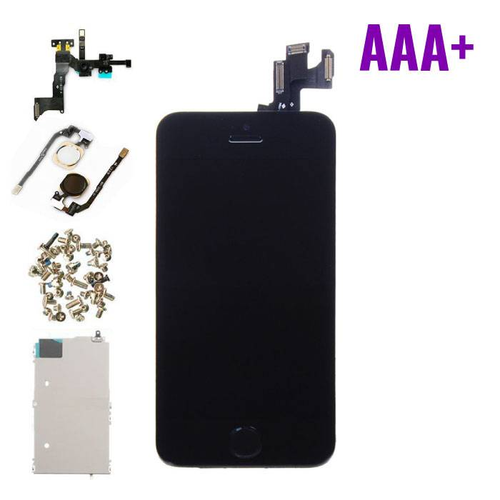 iPhone 5S Front Mounted Display (LCD + Touchscreen) AAA+ Quality - Black