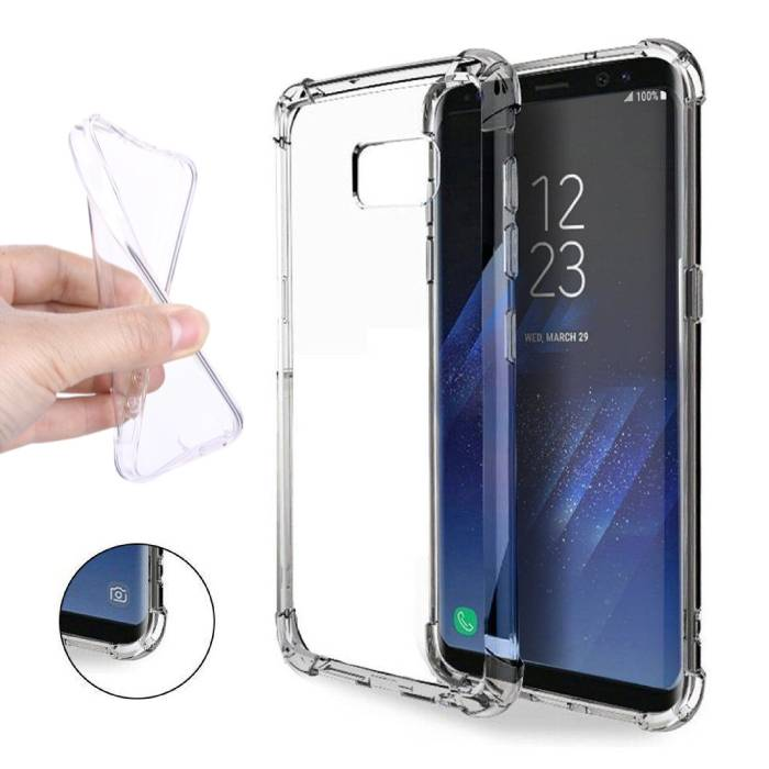 Transparant Clear Bumper Case Cover Silicone TPU Hoesje Anti-Shock Samsung Galaxy S8