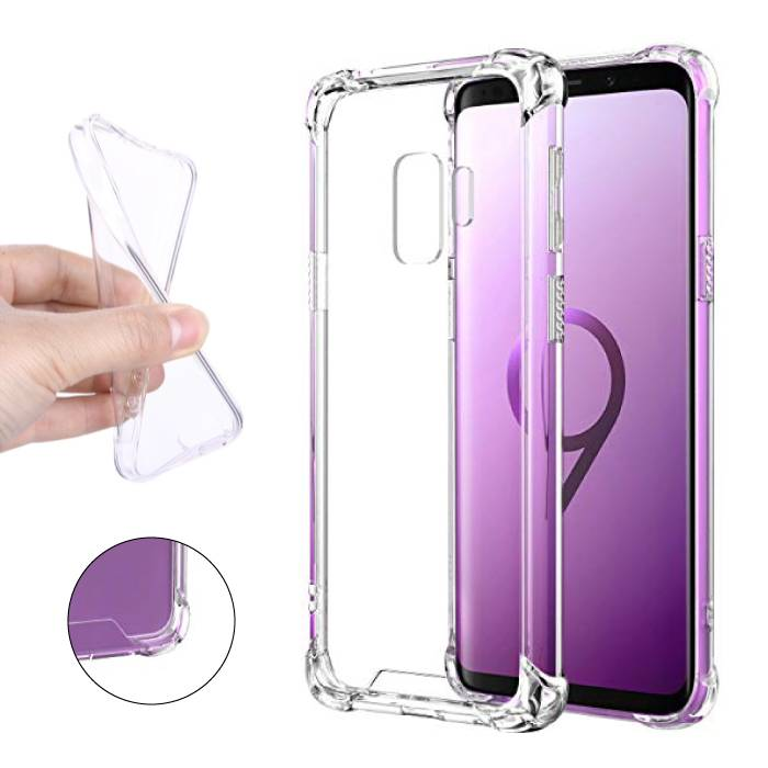 Samsung Galaxy S9 Plus Transparent Clear Bumper Case Cover Silicone TPU Case Anti-Shock