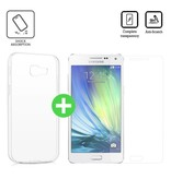 Stuff Certified® Samsung Galaxy A5 2016 Transparant TPU Hoesje + Screen Protector Tempered Glass