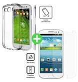 Stuff Certified® Samsung Galaxy S3 Transparant TPU Hoesje + Screen Protector Tempered Glass