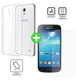 Stuff Certified® Samsung Galaxy S4 Transparant TPU Hoesje + Screen Protector Tempered Glass