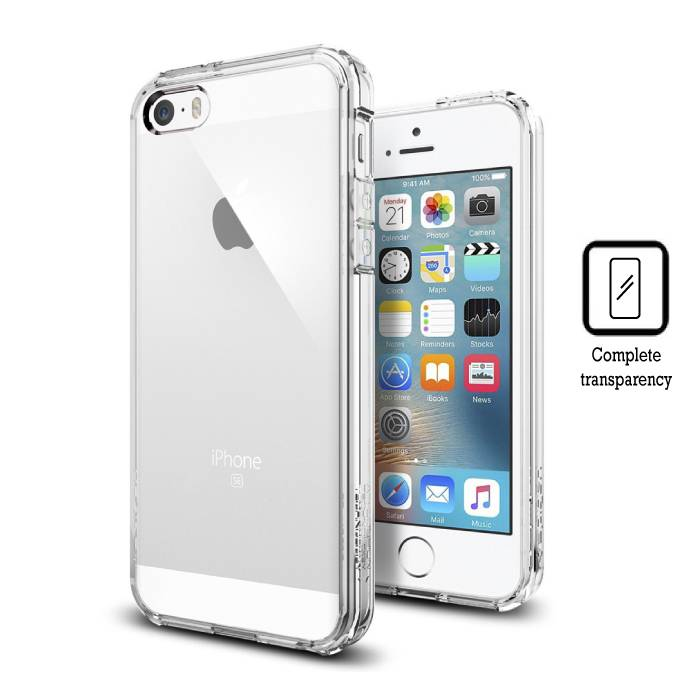 Transparant Clear Hard Case Cover Hoesje iPhone 5S