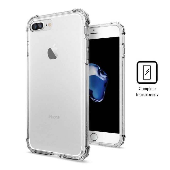 Transparant Clear Hard Case Cover Hoesje iPhone 7 Plus