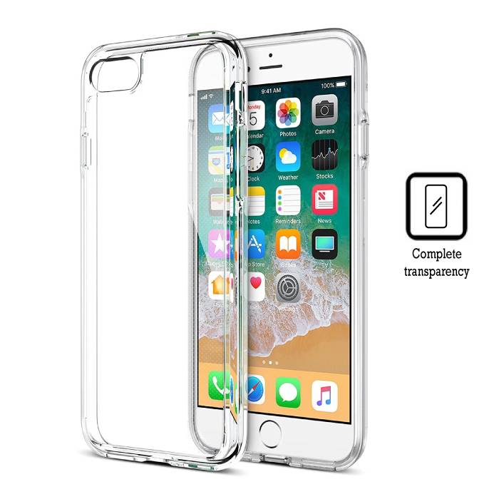 Transparant Clear Hard Case Cover Hoesje iPhone 8
