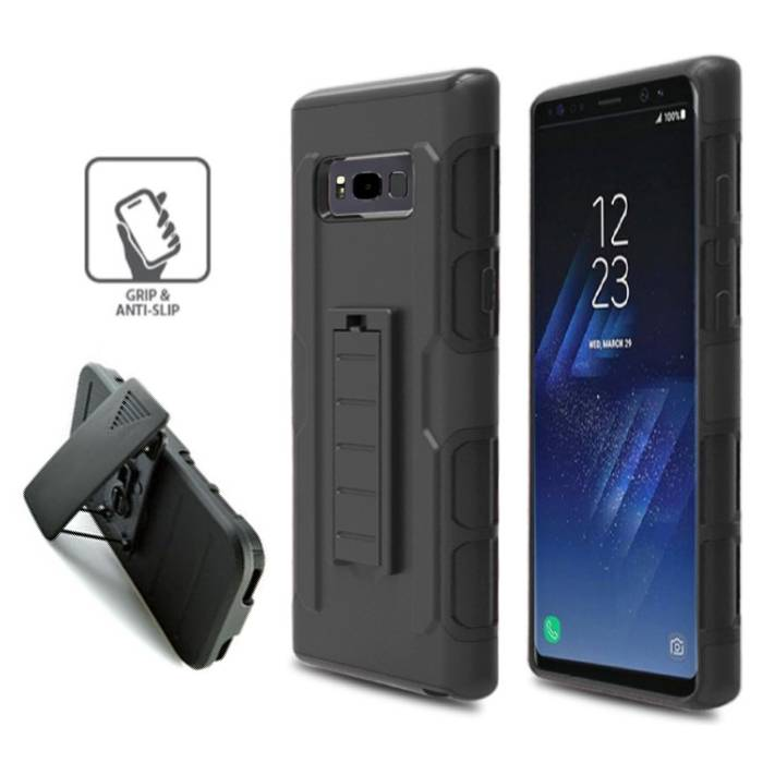 Samsung Galaxy S8 Plus Future Armor Hard Case Cover Cas Hoesje Zwart