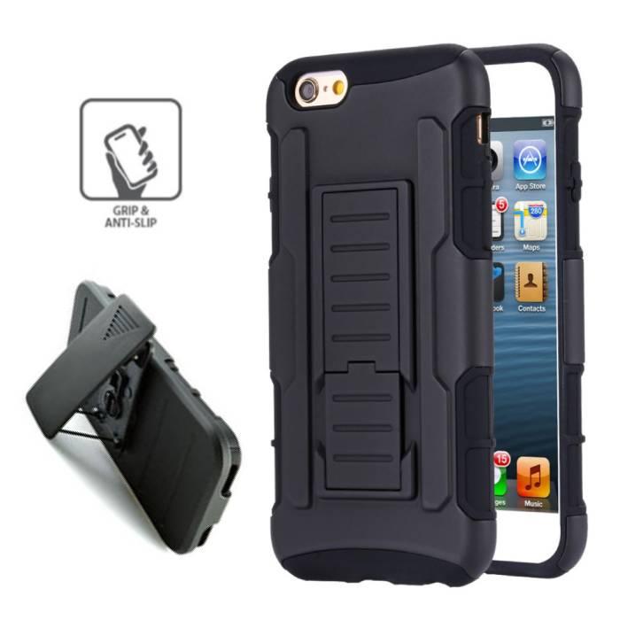 iPhone 6S Plus Future Armor Hard Case Cover Cas Case Black