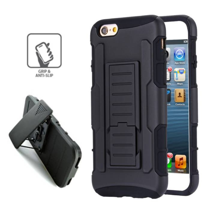 Apple iPhone 5 - Hybrid Armor Case Cover Cas Silicone TPU Case Black