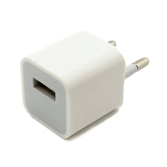 A1265 2PIN EU Plug Chargeur 5V - 1A USB AC Blanc Accueil