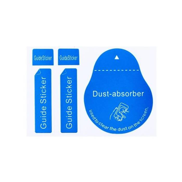 5-Pack Dust Absorber Screenprotector Guide Sticker