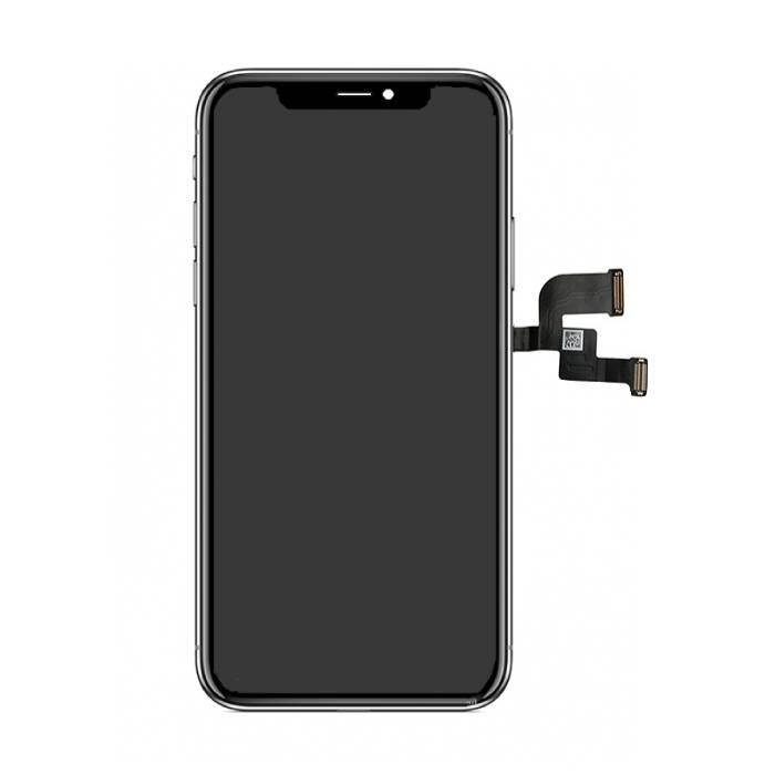 iPhone X Bildschirm (Touchscreen + OLED + Teile) AA + Qualität - Schwarz