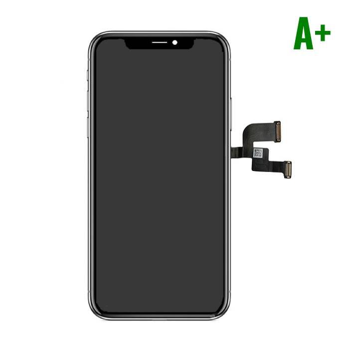 iPhone X Scherm (Touchscreen + LCD + Onderdelen) A+ Kwaliteit - Zwart
