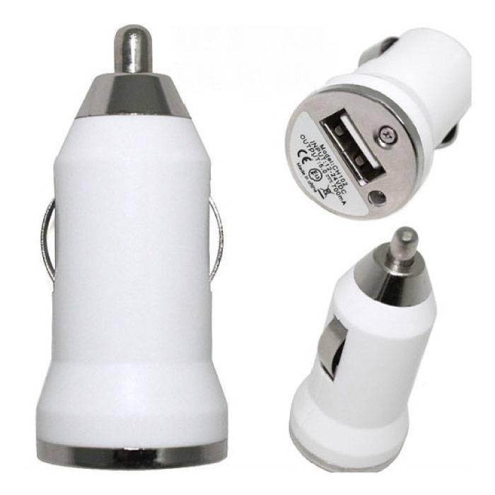 iPhone / iPad / iPod AAA + Autoladegerät 5V - 1A USB - Schnellladung - Weiß