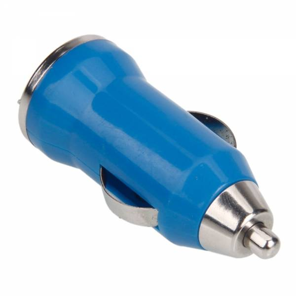 iPhone / iPad / iPod AAA+ Chargeur allume-cigare USB 5V - 1A - Charge rapide - Bleu