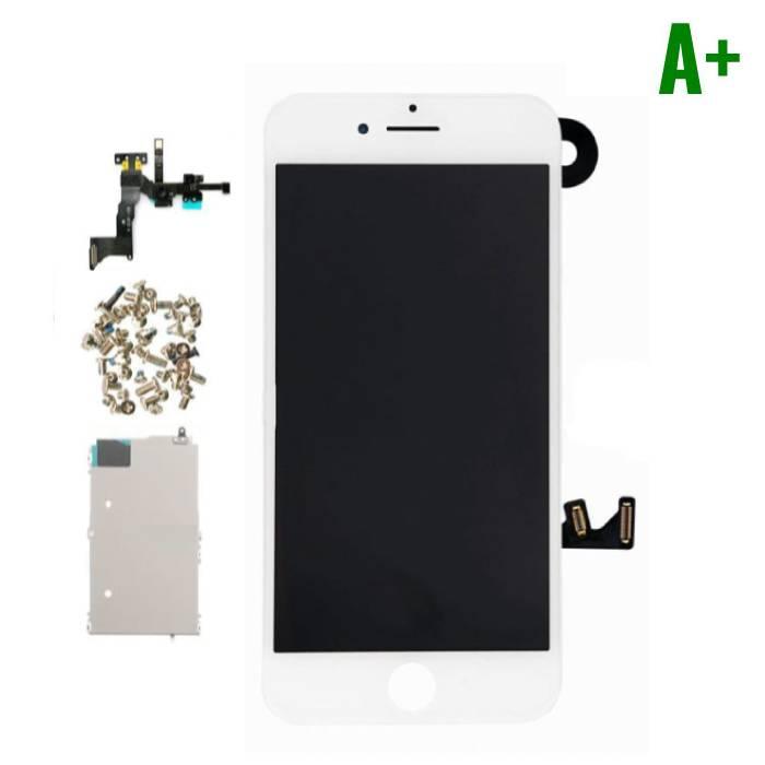 7 Pour iPhone Mounted Display ('cran LCD + tactile + PiŠces) A+ Qualit' - Blanc