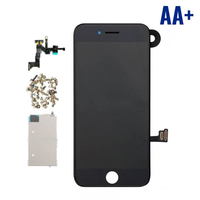 iPhone 7 Plus Front Mounted Display (LCD + Touch Screen + Parts) AA + Quality - Black