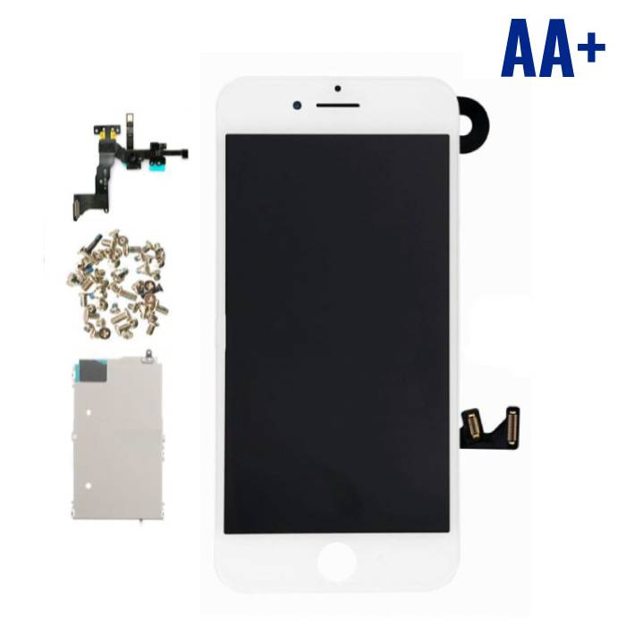 iPhone 7 plus Mounted Display avant (LCD + écran tactile + Pièces) AA+ Qualité - Blanc