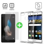 Stuff Certified® Huawei P10 Transparant TPU Hoesje + Screen Protector Tempered Glass