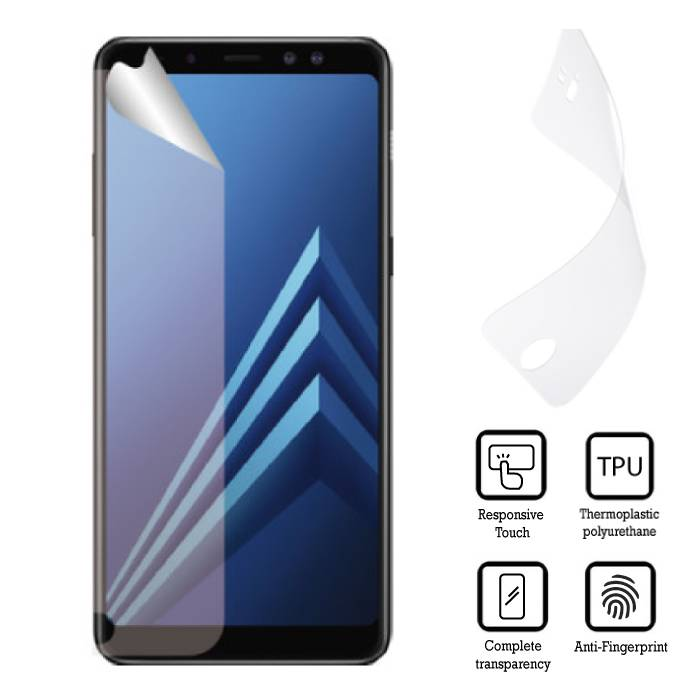 Samsung Galaxy A8 Screen Protector 2018 EU Soft TPU Foil Film PET Film