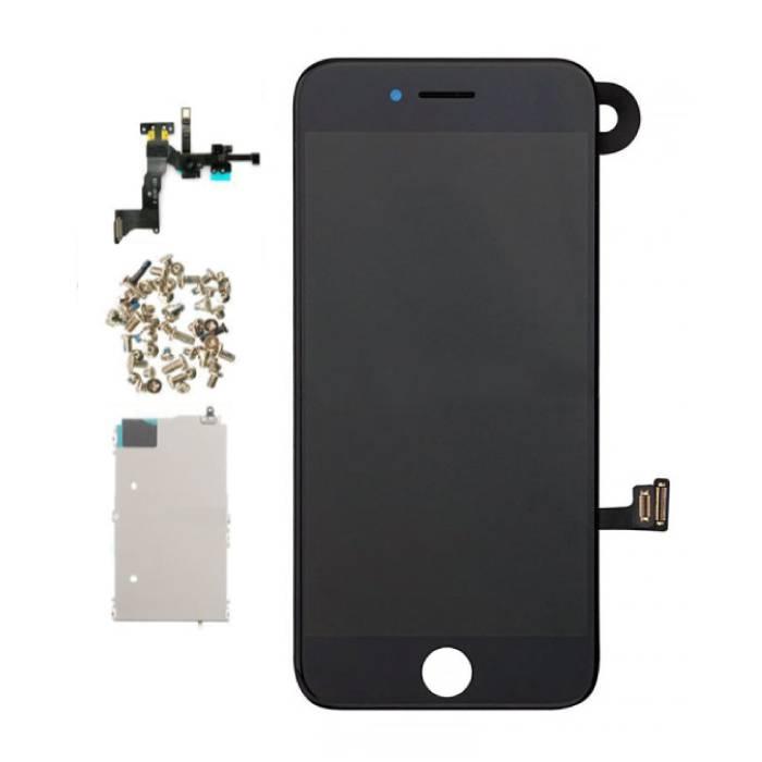 Vormontierter iPhone 7-Bildschirm (Touchscreen + LCD + Teile) AA + Qualität - Schwarz