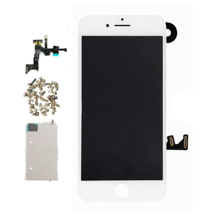 Vormontierter iPhone 7-Bildschirm (Touchscreen + LCD + Teile) A + Qualität - Weiß