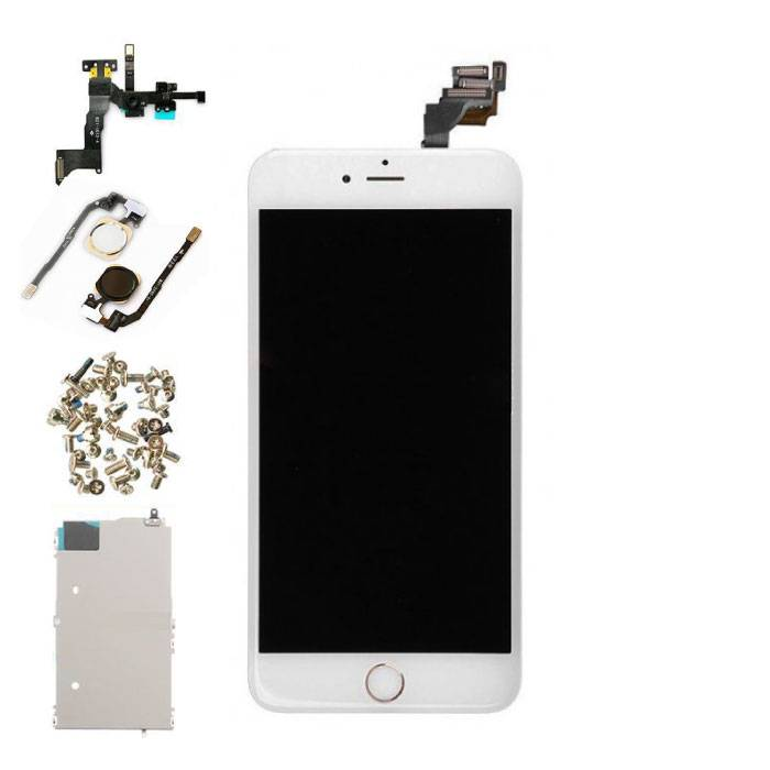 iPhone 6S Plus Front Mounted Display (LCD + Touch Screen + Parts) AAA + Quality - White