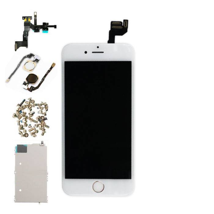 """iPhone 6S 4.7 """"Front Mounted Display (LCD + Touch Screen + Parts) AA + Quality - White"""