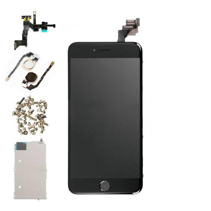 iPhone 6S Plus Vormontierter Bildschirm (Touchscreen + LCD + Teile) AA + Qualität - Schwarz