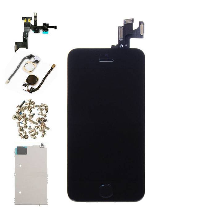 iPhone SE Front Mounted Display (LCD + Touch Screen + Parts) AA + Quality - Black