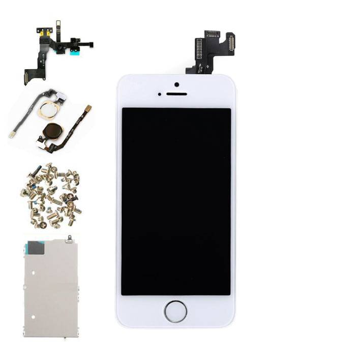 iPhone 5S Front Mounted Display (LCD + Touch Screen + Parts) AA + Quality - White