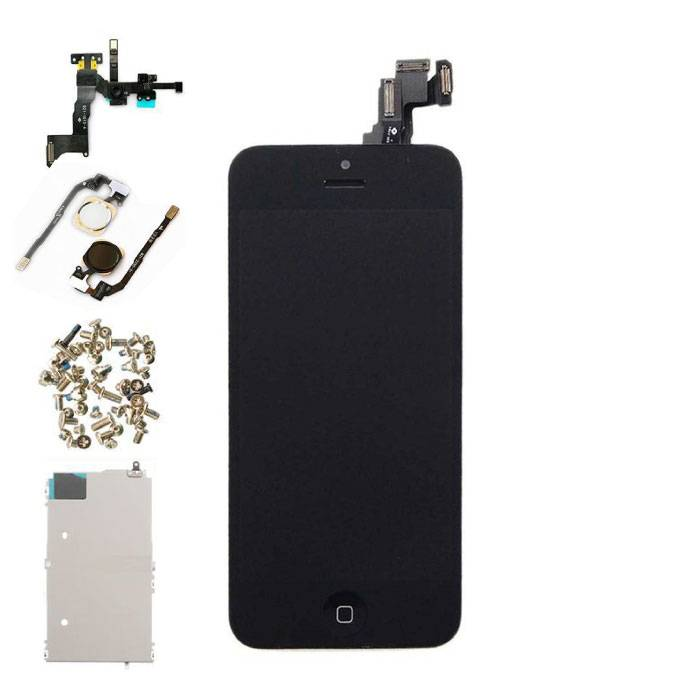 For iPhone 5C Mounted Display (LCD + Touch Screen + Parts) AAA + Quality - Black