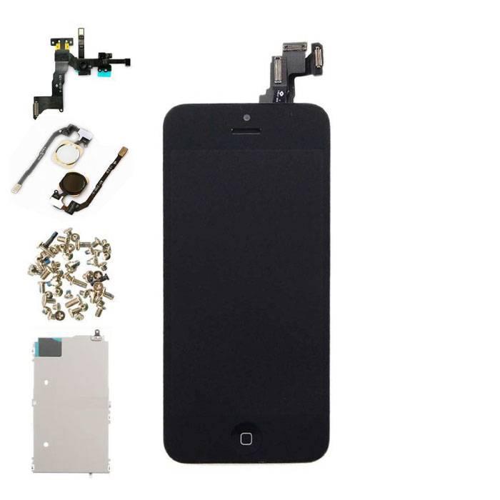 iPhone 5C Voorgemonteerd Scherm (Touchscreen + LCD + Onderdelen) A+ Kwaliteit - Zwart