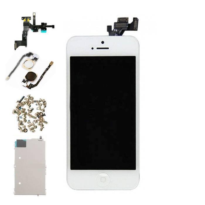 iPhone 5 Vormontierter Bildschirm (Touchscreen + LCD + Teile) AA + Qualität - Weiß