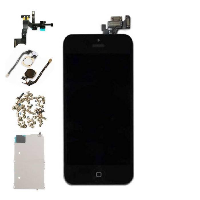 Vormontierter iPhone 5-Bildschirm (Touchscreen + LCD + Teile) A + Qualität - Schwarz