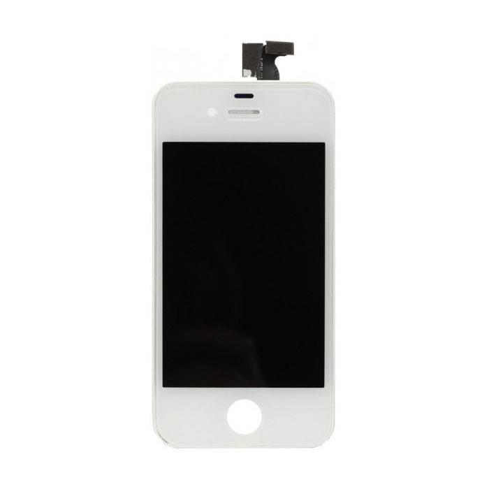 Écran iPhone 4 (écran tactile + LCD + Pièces) AA + Qualité - Blanc