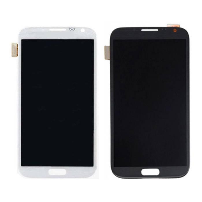Samsung Galaxy Note 2 N7100 Bildschirm (Touchscreen + AMOLED + Teile) AAA + Qualität - Schwarz / Weiß