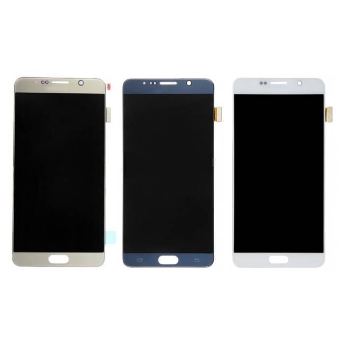 Écran Samsung Galaxy Note 5 N9200 / N920A / N920T / N920V / N920P (écran tactile + AMOLED + pièces) A + Qualité - Blanc / Bleu / Or