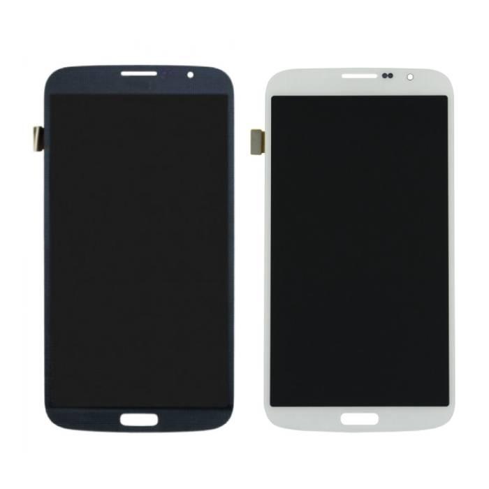 Samsung Galaxy Mega 6.3 i9200/i9205 Scherm (Touchscreen + AMOLED + Onderdelen) AAA+ Kwaliteit - Zwart/Wit