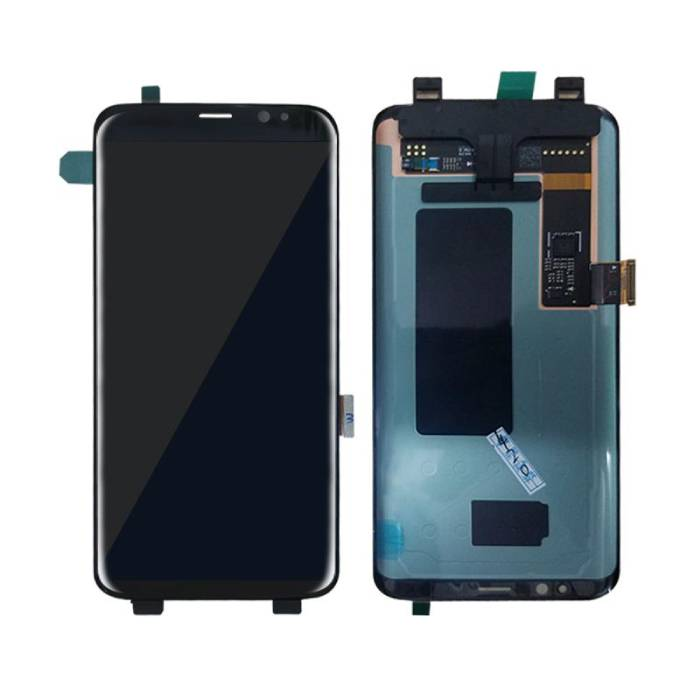 Samsung Galaxy S8 Bildschirm (Touchscreen + AMOLED + Teile) AAA + Qualität - Schwarz