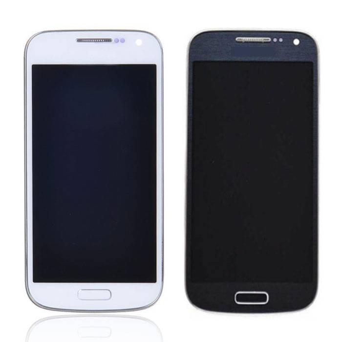Samsung Galaxy S4 Mini Scherm (Touchscreen + AMOLED + Onderdelen) AAA+ Kwaliteit - Blauw/Wit